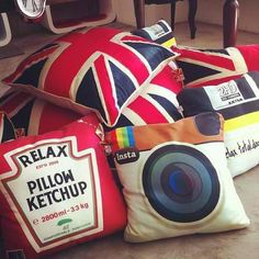 funky pillows :)