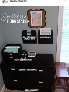 Organizing Paperwork Home Office Organization Paper Decor Station