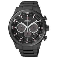 Citizen Chronograph Nr. CA4035-57E. Machen Sie ein unvergessliches Geschenk und schenken Sie diese Uhr mit einer persönlichen Gravur.