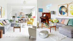 Salon scandinave couleurs pastel