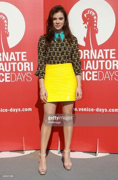 Hailee Steinfeld attends a photocall for 'Women's Tales' during the 72nd Venice Film Festival on September 3, 2015 in Venice, Italy.