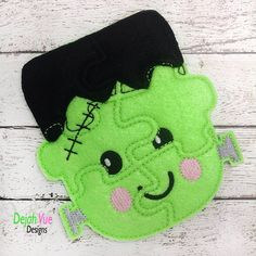 Frankenstein Monster Felt Puzzle and many more items are available for purchase at https://www.etsy.com/shop/SchoolhouseBoutique