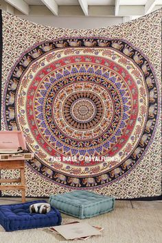 Buy multi colors colorful mandala bohemian boho wall tapestry cotton bedding bedspread at best price. Shipping worldwide USA, UK, Canada, Australia and more.