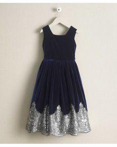 Isabel Garreton Girls Bejeweled Velvet Dress