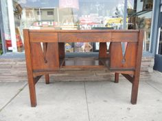 Mission Style Arts & Crafts Desk with Keyhole Design Los Angeles by HouseCandyLA, $699.00
