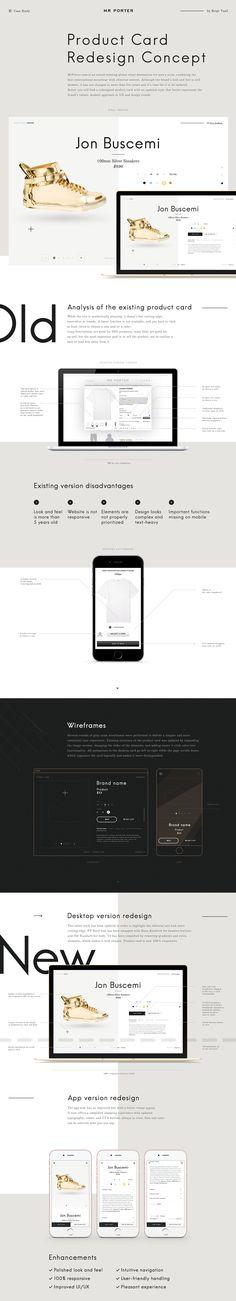 Case Study: Mr Porter Product Card Redesign Concept on Web Design Served