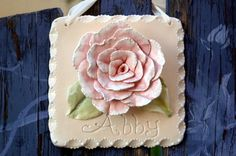 Custom rose plaque with personalized name by Dprintsclayful, $68.00