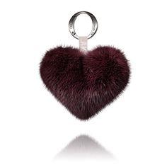 Oh! by Kopenhagen Fur purple mink heart keyring - http://shop.ohbykopenhagenfur.com/home/