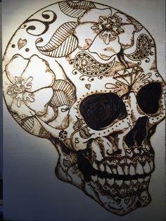 Skull on poplar for my son
