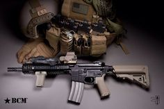 BCM defense rifle and gear
