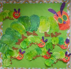 march bulletin board ideas preschool | the vintage umbrella: Preschool Very Hungry Caterpillars