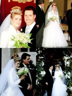David Albert Charles Armstrong-Jones, Viscount Linley (born 3 November 1961) marrying The Honourable Serena Alleyne (born 1 March 1970), daughter of Charles Stanhope, 12th Earl of Harrington, on 8 October 1993 at St. Margaret's Church, Westminster.