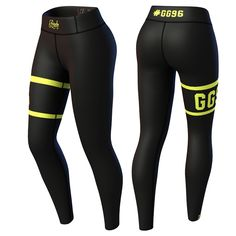 Kjøp Champion Legging, black/yellow hos Gymgrossisten