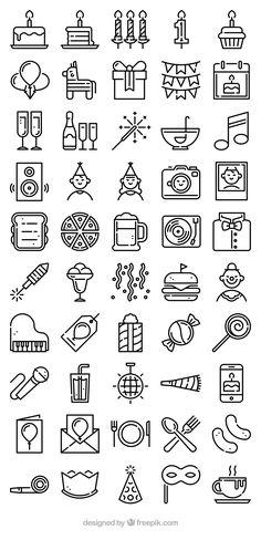 50 FREE Birthday party icons! Flaticon.