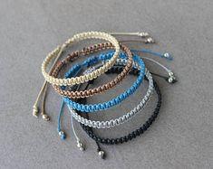 Surfer Bracelet Waterproof Cord Bracelet Adjustable Unisex Womens Mens Bracelet Boyfriend Gift Friendship Bracelet Choose Color Mens Gift