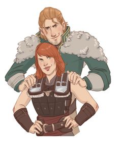 Sadie Hawke and Anders, a commission for @inuy21. Thanks for the donation :D