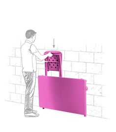 Mobilier de jardin astucieux pour votre balcon : ranger votre table et vos chaises facilement! 100% écolo et recyclable