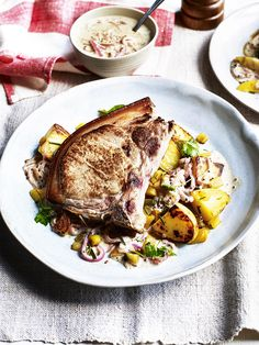 Indulge yourself with these deliciously creamy cider pork chops. Serve on a bed of sauteed rosemary potatoes for a fabulous mid-week meal.