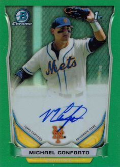 Find the 2014 Bowman Chrome Draft Michael Conforto Autograph in 2015 Bowman Chrome Baseball http://www.beckett.com/news/2015/09/2014-bowman-chrome-draft-michael-conforto-autograph-in-2015-bowman-chrome-baseball/?utm_source=organic&utm_medium=se