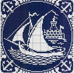 Cross-stitch Nautical Silhouette...   Gallery.ru / Фото #1 - Монохром - elena-555