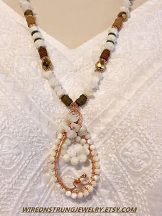 Handmade Jade and Pearl Necklace set
