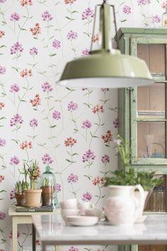 #BoråsTapeter #GardenParty, kolme värivaihtoehtoa, kuvassa malli 3463. #Värisilmä #tapetti, www.varisilma.fi