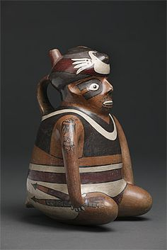 NAZCA culture South coast 100 – 700 AD Vessel in the form of a warrior 200-400 AD ceramic