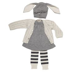 Winter in Knits... I want to have a little girl just so I can put this outfit on her.