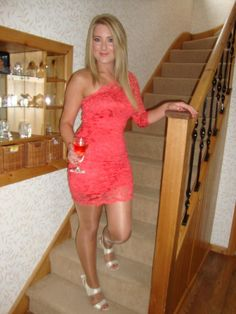 wonderful coral dress!