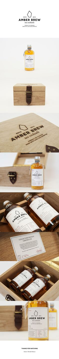 Amber Brew - Tea Cocktails on Packaging Design Served