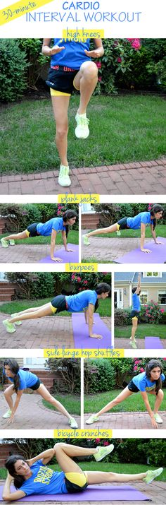 30 Minute Cardio Workout - she's got a few good workouts on her site.