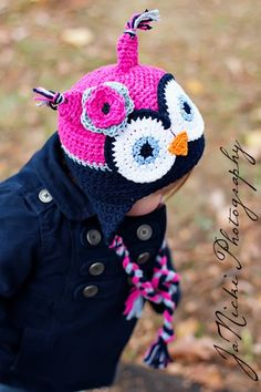 Adorable....new spin on owl hat