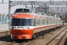 """Odakyu Type7000 Romance Car, """"Hakone"""". I'm surprised that Type10000, the newers are not present but these, the olders are still present."""
