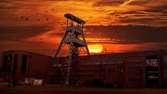 #coal mine #coal pot #dump hoheward #herten #industry #sunset #zeche ewald