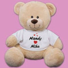"Personalized I Love You Printed 12"" Teddy Bear - Gifts Happen Here"