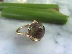Bandringe - TOM K Collier Nudo Solitär Rauchquarz Ring Gold - ein Designerstück von TOMKJustbe bei DaWanda