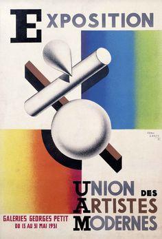 Cartel de la 'Exposition Union des Artistes Modernes', 1931