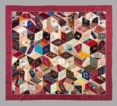 Quilt, Crazy pattern  Clara Louise Roscoe (born 1828)  Date: 1894