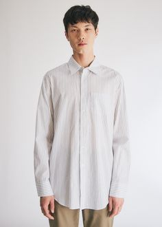 Gabriel Button Up Shirt in Blue Stripe Need Supply Co, 50 Fashion, Sweater Shirt, Blue Stripes, Gabriel, Chef Jackets, Button Up Shirts, Long Sleeve Shirts, Buttons