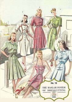 The Haslam System of Dressmaking No. 18 1940's  by MyVintageWish