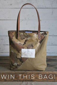 RAFFLE TICKET - Canvas & Cloud Camo Tote Bag