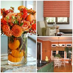 Pumpkin inspired decor is in style around this time of the year.
