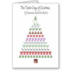Gardener's 12 Days of Christmas Greeting Card.