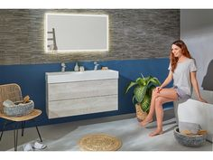 The Blend line is for anyone who wants to deviate from the norm and for those who seek adventure. Type: F Tipmatic. Grey Bathrooms, White Bathroom, Wooden Bathroom, White Vanity, Bathroom Furniture, Modern Design, Cabinet, Adventure, Model