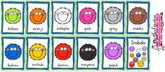 3 x A4 PDF downloadable sheets with 4 flash cards on each. Colours include: white – imhlophe pink – ipinki red – ibomvu orange – iorenji black – imnyama brown – imdaka green – iluhlaza yellow – imthubi purple – ipepuli blue – ibulowu grey – igreyi Teaching Resources, Teaching Ideas, Xhosa, Purple, Pink, Blue, Orange, Yellow, A4