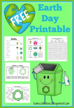Earth Day Fun Free Printables Worksheets for Kids