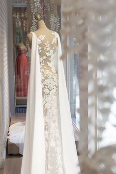 Niara dress in the window display of our store in Las Palmas de Gran Canaria