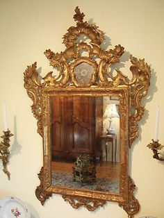 AM-0009-Stillwell House Antiques - French Style Italian Rocco Gilded Mirror