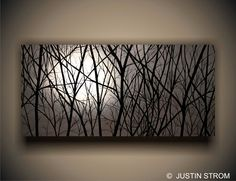 """Moonlight"" painting by Justin Strom 4' x 2' canvas gallery wrapped."