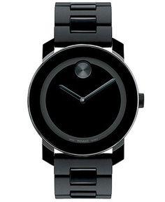 Movado Watch, Swiss Bold Large Black Polymer Bracelet 42mm 3600047 - Movado - Jewelry & Watches - Macy's